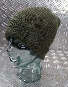 Genuine US Army Green Beanie Hat / Watch Cap / Skullcap 100% Wool - NEW