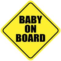 Baby On Board Car Truck Window Decal Sticker Bumper Child Sign Die Cut Safety