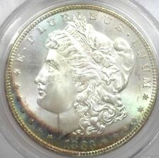 1883-CC SILVER MORGAN DOLLAR OLD GREEN PCGS LABEL MS-65 SOME COLOR BETTER DATE!