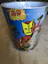 VINTAGE IRONMAN WASTE PAPER Basket (1998) TIN BOX COMPANY MARVEL COMICS
