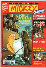 LE JOURNAL DE MICKEY n°2080 ¤ 1992 ¤ + CADEAU POSTER AS MONACO/WEAH ET PETIT