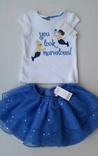 NWT Gymboree Greek Isle Mermaid Top and Sparkle Tutu Set Sz 2