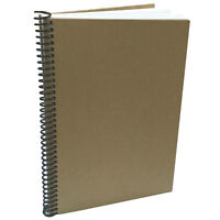 KRAFT DIY Blank Book 70pgs of Cardstock Scrapbook Photo Album Art Sketch Journal
