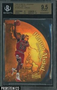 1998-99 Metal Universe Planet Metal Die-Cut #1 Michael Jordan HOF BGS 9.5 w/ 10