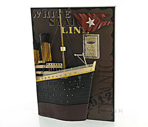 """RMS Titanic Ocean Liner Bow 3D Metal Model Painting 28"""" White Star Cruise Ship"""