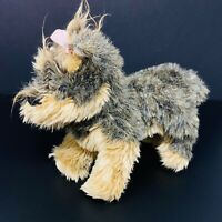 Helzberg Diamonds Toodles Yorkshire Terrier Dog Plush Yorkie with Pink Bow 2008