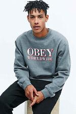 Men's Obey Grey La Vella Sweatshirt Medium CS171 GG 03