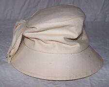 6201 Vintage Ladies Wesco Cream Off-White Hat Usa Union# Fringe