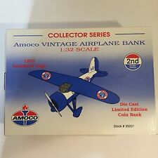 New Amoco Vintage Die Cast Collectors Airplane Bank 2nd in a Series 1:32