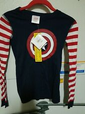 NWT Hanna Andersson Marvel Comics Captain America Long John Pajamas kids size 10