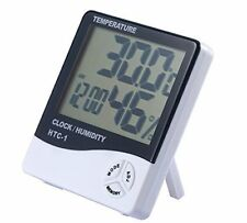 Indoor Large LCD Display Thermometer Humidity Hygrometer Temperature Alarm