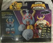 Massive Monster Mayhem Set Inflatable Helmet and Fists MISB White Open Box