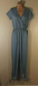 ANTHROPOLOGIE J for Justify JUMPSUIT ONE PIECE V NECK GRAY SIZE S NWT H320