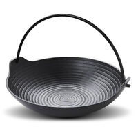 Cast Iron Griddle Skillet Grill Fry Pan Pot Kitchen Outdoor Cooking 20cm