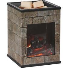 2 pk Candle Warmers Glass Fireplace Illumination Fragrance Warmer FLHST