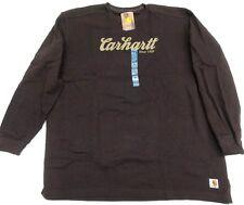 Carhartt 100569 Long Sleeve TEXTURED KNIT  sz 4X  Dark Brown [F11-569]