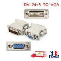 Adaptateur Convertisseur Dvi-I Male Vers Vga 24+5 Pins Femelle Converter Gris