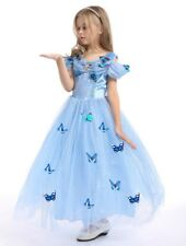 Kids Girls Princess Cinderella Fancy Dress Up Cosplay Costume Party Outfit Gift
