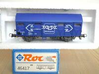 """Roco 46417 gedeckter Güterwagen Gss-vx der ÖBB Ep.4/5 """" BahnExpress """" in OVP"""