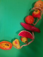 LOT/8 VINTAGE PAPER MACHE VARIETY OF FRUITS VEGETABLES MADE IN MEXICO