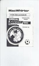 Swansea City Home Team Under 18s/ 21s Football Programmes