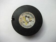 VINTAGE PITTSBURGH PENGUINS VICEROY GAME PUCK, RARE IN ANY CONDITION RUBBERIZED
