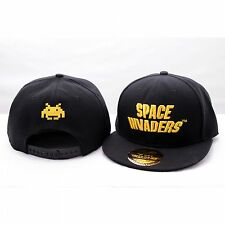 SPACE INVADERS GOLDEN LOGO RETRO GAME BASEBALL HIP HOP CAP KAPPE MÜTZE SNAPBACK