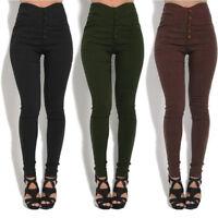 Women Pencil Pants High Waist Stretch Long Trousers Leggings Skinny Pants S-5XL