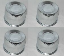 "4 CAP DEAL 8 LUG 5.12"" DIA BORE 3.5"" TALL PUSH THRU WHEEL CENTER CAP CHROME 122"