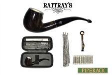Rattray's Joy Pipe Set / Kit Meerschaum Lined  9mm Filter & Case BR8 Bent