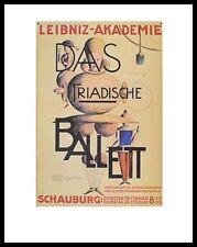 Oskar Schlemmer el triadische ballet póster imagen son impresiones artísticas y marco 90x70cm