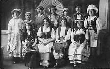 BR75325 women types folklore costumes real photo    glasgow  scotland