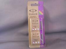 Parker Quink Purple Ink Cartridges--PURPLE--SHORT CARTRIDGE--10 per card