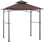 ABCCANOPY Grill Shelter Replacement Canopy Roof ONLY FIT for Gazebo brown