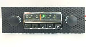 BLAUPUNKT ESSEN Vintage Chrome Classic Car FM Radio MP3 WARRANTY PORSCHE 911 912