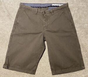 """Brown Size 38/"""" Waist Ben Sherman Chino Short BNWT Mod // Indie // Sale"""