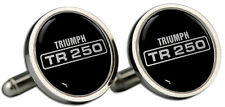 Triumph TR 250 Text Logo Cufflinks and Gift Box