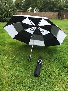 "Double canopy Automatic Strong FOLDING Windproof JL golf Black Umbrella 47""120cm"