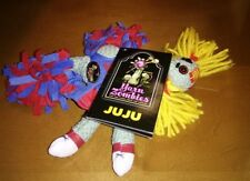 Yarn Zombie JuJu for the living from the undead cheerleader Muffy pom poms