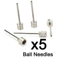 5Pcs Us Type Metal Inflator Ball Needles Pin For Basketball Soccer Football A