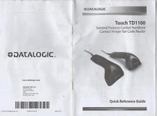 DATALOGIC - MANUALE - MANUAL - PER TOUCH TD1100 - TARATURA E ISTRUZIONI ENGLISH