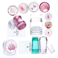 Multi-colors Jelly Silicone Nail Art Stamper & Scraper Kits Stamping Tools Set