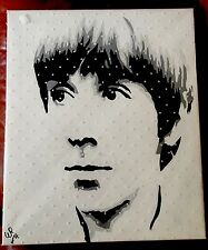 Canvas One Off Painting Keith Moon Mod Art Signed By Artist
