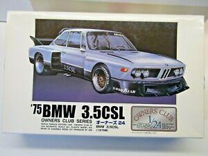 """ARII 1:24 Scale """"Owners Club"""" 1975 BMW 3.5CSL Model Kit - New - # 21154-1500"""