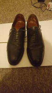John White 1987 Premium Black Leather Derby Lace up shoes size 8L