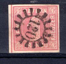 BAVARIA 1850 1K red SG8a - superb postmark