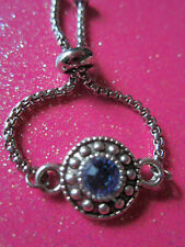 Bolo Ring Stainless Steel Blue Gypsy Adjustable Chain Bolo Ring