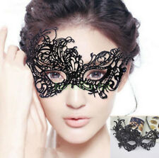 Phantom Laser Cut Venetian Masquerade Black Metal Filigree Party Ball Mask