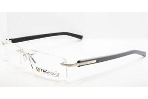 Tag Heuer 8109 013 TRENDS Gray Black Titanium Eyeglasses TH8109-013 56mm