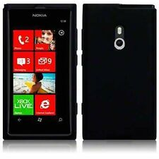 Custodia Cover Per NOKIA LUMIA 800 Silicone Gel NERO BLACK MORBIDA NUOVO HOUSING